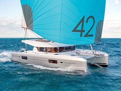 Lagoon 42 Catamaran Charter Greece Bareboat Skippered By Globe Yacht Charter Featured Image
