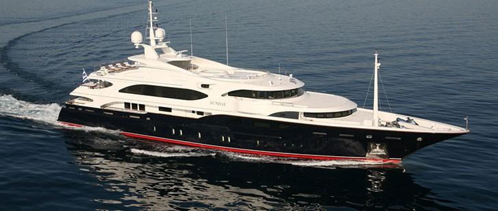 Sunday Luxury Mega Yacht Greece By Globe Yacht Charter Main Image
